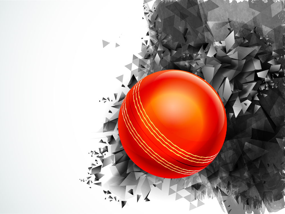 Glossy Ball for Cricket Sports concept.